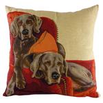 "18"" Lounging WEIMARANER Belgian Tapestry Cushion LC556"